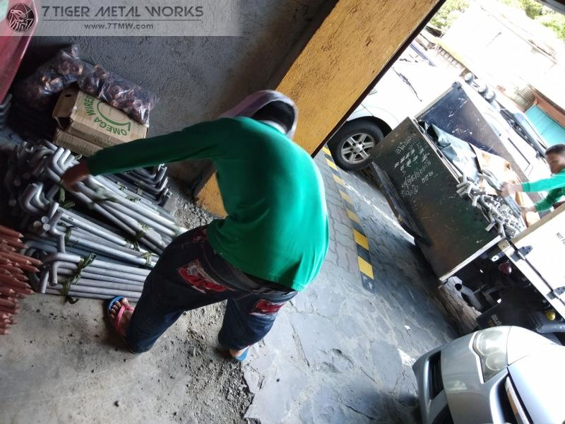 Delivery of G.I. Anchor bolt in Goodyear Park, Almanza, Las Pinas City