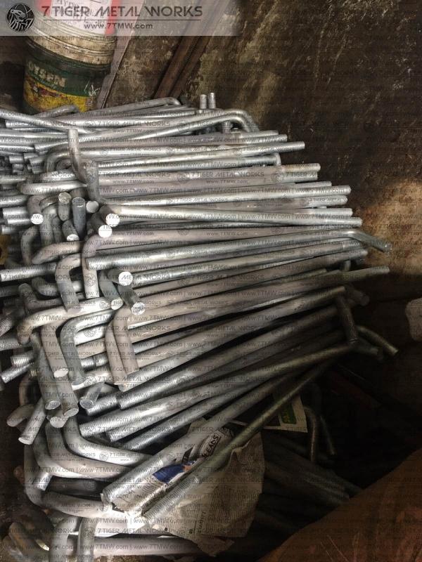 pick up of 400 pcs hot dip galvanized 4140 mat anchor bolt 25mm diameter