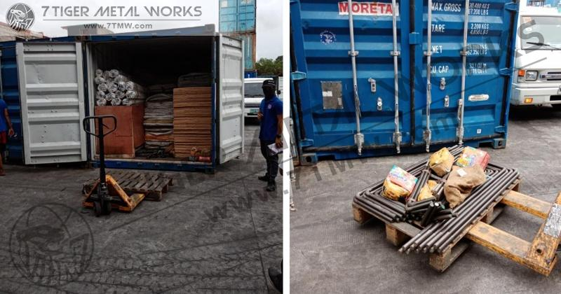 Delivery of anchor bolt and hexbolt to Palawan