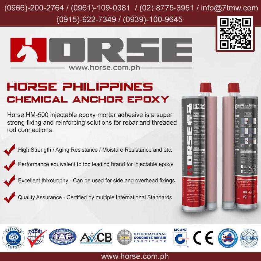 Horse HM500 Chemical Anchor Epoxy same performance as Hilti HIT-RE 500 V3